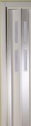 Zusatzlamelle für Falttür Luci weiß mit 2 Fensterreihen B 15,5 x H 202 cm