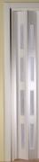Zusatzlamelle für Falttür Luci weiß mit 4 Fensterreihen B 15,5 x H 202 cm