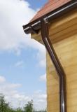 Dachrinnen Set | RG 100 | MARLEY | braun | bis 4 Meter Seitenlängen mit Verstellwinkeln