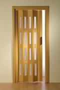 Falttür Luciana Höhe nach Maß 4 Fensterreihen eichefarben hell