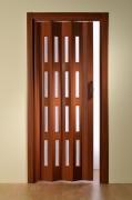Falttür Luciana Höhe nach Maß 4 Fensterreihen mahagonifarben