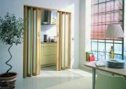 MARLEY Doppelfalttür New Generation Buche, Fenster türkis satiniert BxH 172x205 cm