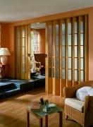 MARLEY Doppelfalttür President mit Fenster buchefarben mit Schloss BxH 172x205 cm