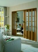 MARLEY Doppelfalttür President mit Fenster, eichefarben mit Schloss BxH 172x205 cm